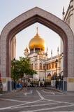 SINGAPUR, LIPIEC - 05, 2016: Sułtanu meczet na Północnej bridżowej drodze ja Zdjęcia Stock