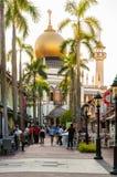 SINGAPUR, LIPIEC - 05, 2016: Sułtanu meczet na Północnej bridżowej drodze ja Fotografia Stock