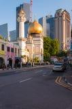 SINGAPUR, LIPIEC - 05, 2016: Sułtanu meczet na Północnej bridżowej drodze ja Obrazy Royalty Free