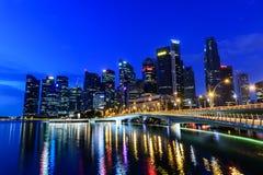 SINGAPUR, LISTOPAD - 24, 2016: W centrum Miastowy krajobraz Singa Obraz Royalty Free