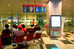 Singapur: Lotniskowy czekanie Obraz Stock