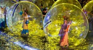 SINGAPUR, LUTY - 3: Chingay festiwal 2012 w Singapur na F zdjęcie stock