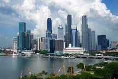 Singapur, Maj - 2006: Miasto linia horyzontu zdjęcia royalty free