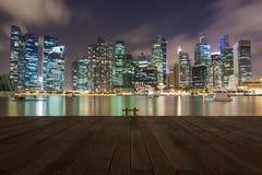 SINGAPUR - Mar 26, 2015: Singapur śródmieście Zdjęcie Royalty Free