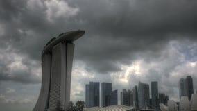 Singapur Marina Bay Entrance almacen de metraje de vídeo