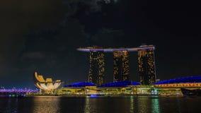 Singapur Marina Bay an nah stock video