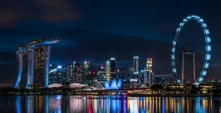 Singapur Marina Bay Sand Night Scene imagenes de archivo