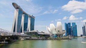 Singapur Marina Bay Sands con el time lapse de ArtScience ArtScience almacen de metraje de vídeo