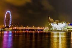 Singapur Marina Night View Imagen de archivo libre de regalías