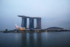Singapur Marina zatoki piaski Hotelowi Obrazy Stock