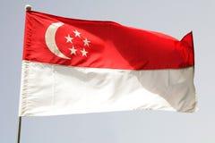 Singapur-Markierungsfahne Lizenzfreie Stockfotos
