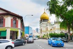 Singapur Masjid sułtanu uliczny meczet obrazy stock