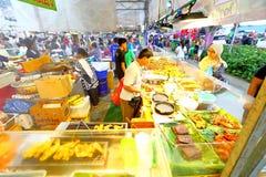 Singapur: Mercado Pasar Malam de la noche Fotos de archivo