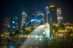 Singapur Merlion bei Marina Bay Lizenzfreie Stockfotografie