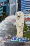 Singapur Merlion en Marina Bay Fotografía de archivo libre de regalías