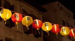 Singapur miasta dekoracja SG50 Chinatown Singapur świętowania obrazy royalty free