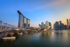 Singapur miasta linia horyzontu obrazy royalty free