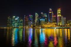 Singapur miasta linia horyzontu Obrazy Stock