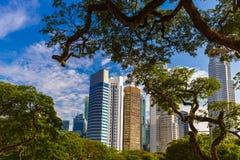 Singapur miasta linia horyzontu Zdjęcie Royalty Free