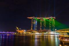 Singapur miasta linia horyzontu Zdjęcie Stock