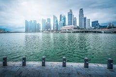 Singapur miasta linia horyzontu dzielnicy biznesu śródmieście w dniu obraz royalty free