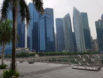 Singapur miasto i olimpijski spacer, Singapur Fotografia Stock