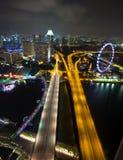 Singapur miasto przy nocą Obraz Stock