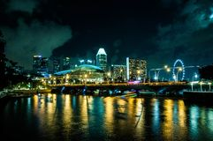 Singapur most Zdjęcia Royalty Free