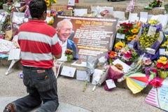Singapur Mr Lee Kuan Yew przechodził daleko od na 23rd Marzec 2015 Obraz Stock