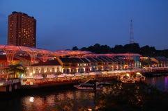 Singapur - Nacht Stockfoto