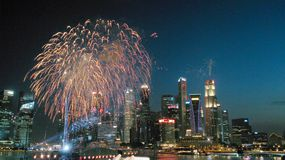 Singapur-Nationaltag-Parade 2015 Stockbilder
