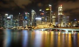 Singapur nocy panoramiczny widok Obraz Royalty Free
