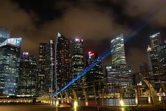 Singapur nocy widok Obraz Stock