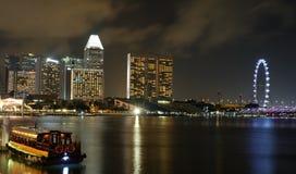 Singapur nocy widok Fotografia Stock