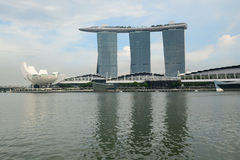 SINGAPUR 15. November 2014: Marina Bay Sands Resort Hotel Stockbild