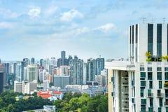 Singapur nowożytna mieszkaniowa dzielnica miasta fotografia stock