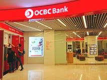 Singapur: OCBC Chinese De ultramar Banking Corporation fotografía de archivo libre de regalías