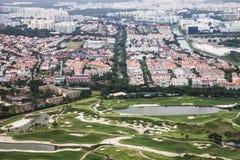 Singapur od powietrza Zdjęcia Stock