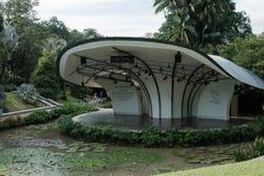 Singapur ogród botaniczny, Singapur - 12 2017 Listopad: Shaw symfoni Fundacyjna scena zdjęcia stock