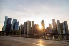 SINGAPUR SINGAPUR, PAŹDZIERNIK, - 26, 2018: Singapur miasta nostalgicznego w centrum widok fotografia stock