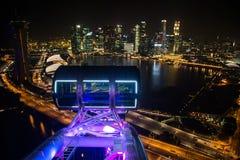 SINGAPUR - 29 Październik: Odgórny widok Marina zatoka od Singa Zdjęcia Stock