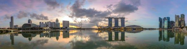 Singapur panorama fotografia stock