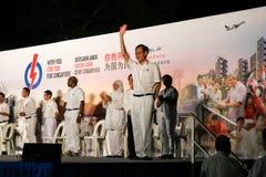 Singapur-Parlamentswahl PAP Rally 2015 Stockfotografie