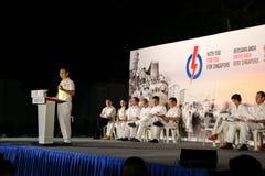 Singapur-Parlamentswahl PAP Rally 2015 Lizenzfreie Stockfotos