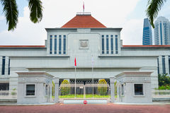 Singapur parlamentu budynek Zdjęcia Royalty Free