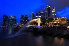 Singapur pejzaż miejski Merlion Zdjęcie Royalty Free