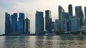 Singapur pejza? miejski w wiecz?r zdjęcie wideo