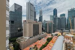 Singapur pieniężny okręg jak widzieć od Chinatown Zdjęcia Stock