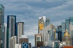 Singapur pieniężny okręg jak widzieć od Chinatown Obrazy Stock