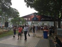 Singapur Prix formuły Uroczystej ochrony Marina 2015 wejściowa zatoka Obrazy Royalty Free